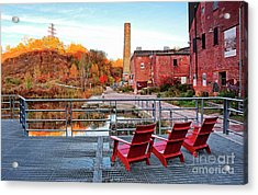 Acrylic Print featuring the photograph Toronto Brickworks Autumn View by Charline Xia