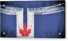 Acrylic Print featuring the digital art Toronto Canada City Flag by JC Findley