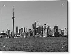 Toronto Cistyscape Bw Acrylic Print