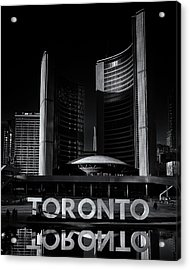 Acrylic Print featuring the photograph Toronto City Hall No 1 by Brian Carson