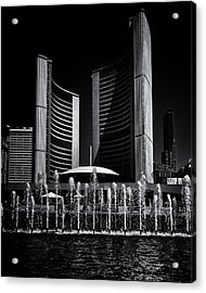 Acrylic Print featuring the photograph Toronto City Hall No 25 by Brian Carson