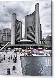 Acrylic Print featuring the photograph Toronto City Hall No 3 by Brian Carson