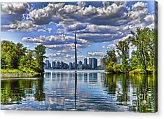 Toronto City View Acrylic Print by Elaine Manley