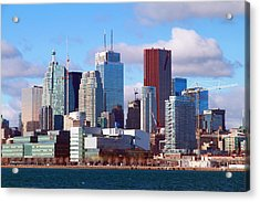 Acrylic Print featuring the photograph Toronto Core by Valentino Visentini