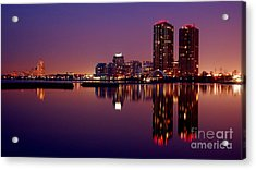 Toronto Cracking Dawn Acrylic Print by Joe  Ng