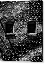Acrylic Print featuring the photograph Toronto Distillery District Windows No 1 by Brian Carson