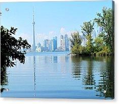 Toronto From The Islands Park Acrylic Print by Ian  MacDonald
