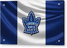Toronto Maple Leafs - 3d Badge Over Flag Acrylic Print