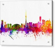Toronto Ontario Skyline Color02 Acrylic Print