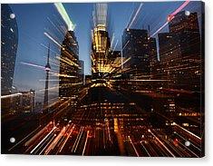Toronto Skyline Streaks Acrylic Print