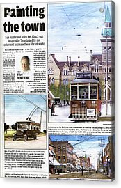 Acrylic Print featuring the painting Toronto Sun Article Painting The Town by Kenneth M Kirsch