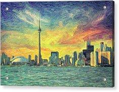 Toronto  Acrylic Print by Taylan Apukovska