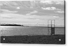 Acrylic Print featuring the photograph Toronto Winter Beach by Valentino Visentini