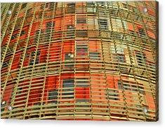 Torre Agbar Modern Facade Acrylic Print