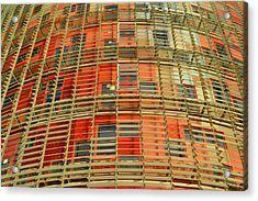 Acrylic Print featuring the photograph Torre Agbar Modern Facade by Marek Stepan