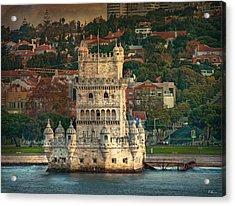 Torre De Belem Acrylic Print by Hanny Heim