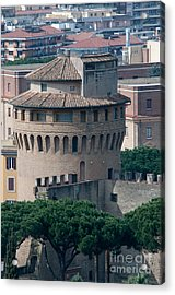 Torre San Giovanni St Johns Tower On The Ramparts Of The Walls Of The Vatican City Rome Acrylic Print by Andy Smy