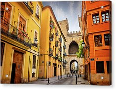 Torres De Quart In Valencia Spain Acrylic Print by Carol Japp