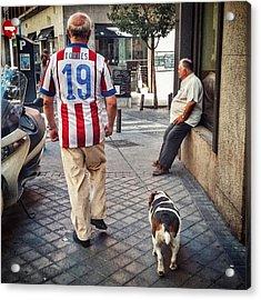 Torres' Dog #street #urban #city #dog Acrylic Print