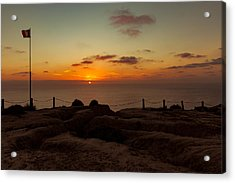 Acrylic Print featuring the photograph Torrey Pine Glider Port Sunset by Jeremy McKay