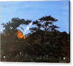 Acrylic Print featuring the painting Torrey Pines In The Morning by Kevin Daly
