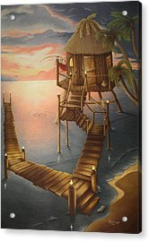 Tortugan Riviera Acrylic Print by Amanda Clark