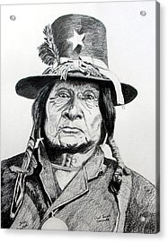 Tosawi Comanche Chief Acrylic Print by Stan Hamilton