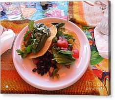 Acrylic Print featuring the photograph Tostada Times Two by Marie Neder