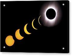 Total Eclipse Sequence, Aruba, 2/28/1998 Acrylic Print