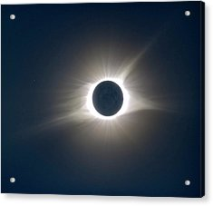 Total Solar Eclipse Hdr Acrylic Print by Jonathan Sabin