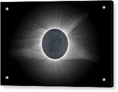 Acrylic Print featuring the photograph Total Solar Eclipse With Corona by Lori Coleman