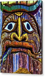 Totem Colorful Face Acrylic Print by Garry Gay