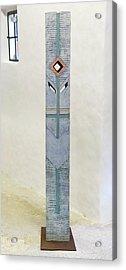 Totem Figure - Votiv Stele - Votive Stela - Ancestral Pole - Crusarder - Poste Antepassados  Acrylic Print by Urft Valley Art