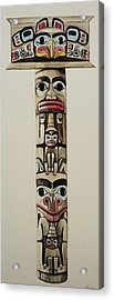 Totem Pole Acrylic Print by Lucy Deane