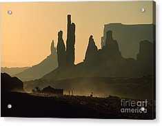 Totems At Sunrise Acrylic Print by Stan and Anne Foster