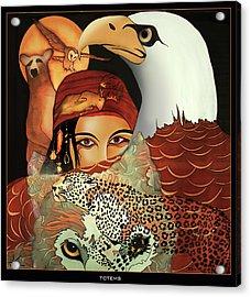 Totems Acrylic Print