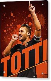 Totti Acrylic Print by Semih Yurdabak