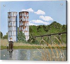 Totuskey Silos Acrylic Print by Jennifer  Donald