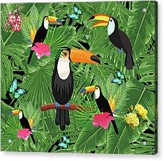 Toucan Tropic  Acrylic Print by Mark Ashkenazi