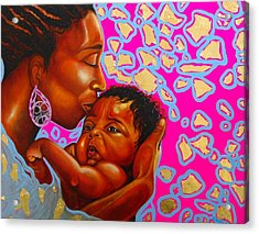 Touch Of Mother Love Acrylic Print