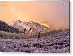 Touch Of Winter Acrylic Print by Chad Dutson