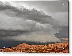 Touch The Clouds Acrylic Print by Christine Till