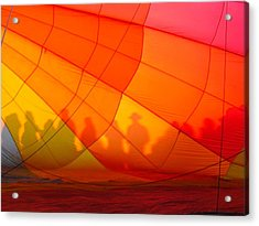 Touch The Rainbow Acrylic Print by Leah Moore