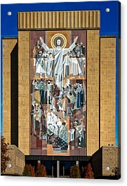 Touchdown Jesus - Hesburgh Library Acrylic Print