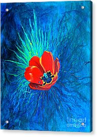 Acrylic Print featuring the painting Touched By His Light by Nancy Cupp