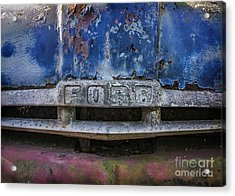 Acrylic Print featuring the mixed media Tough As Ford by Terry Rowe