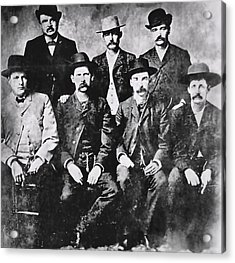 Tough Men Of The Old West Acrylic Print by Daniel Hagerman