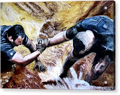 Tough Mudder Wounded Warrior Contest Acrylic Print