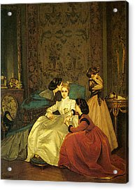 Toulmouche Auguste The Reluctant Bride Acrylic Print