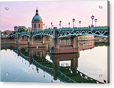 Acrylic Print featuring the photograph Toulouse At Sunset by Elena Elisseeva